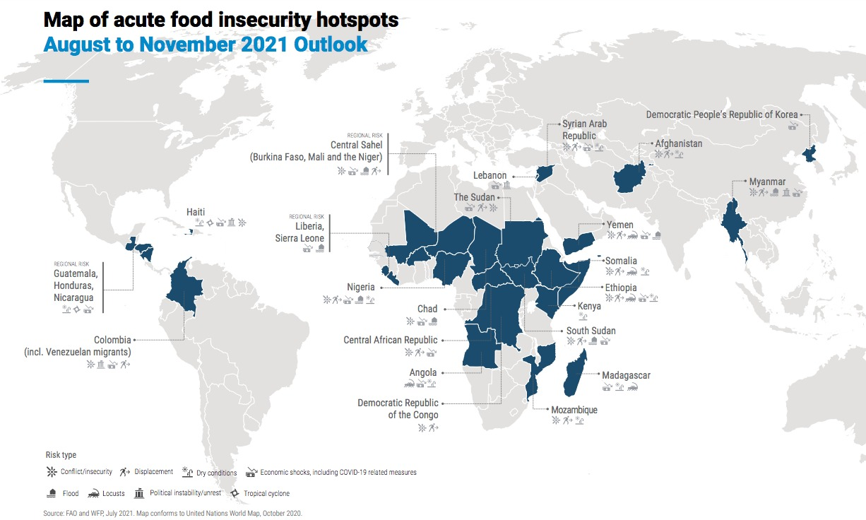 map of acute food insecurity